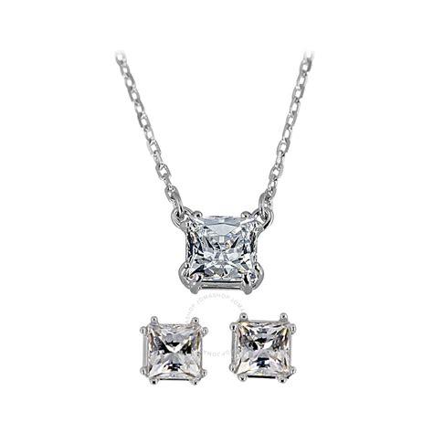 earring pendants jewelry swarovski attract necklace earring set 5033022