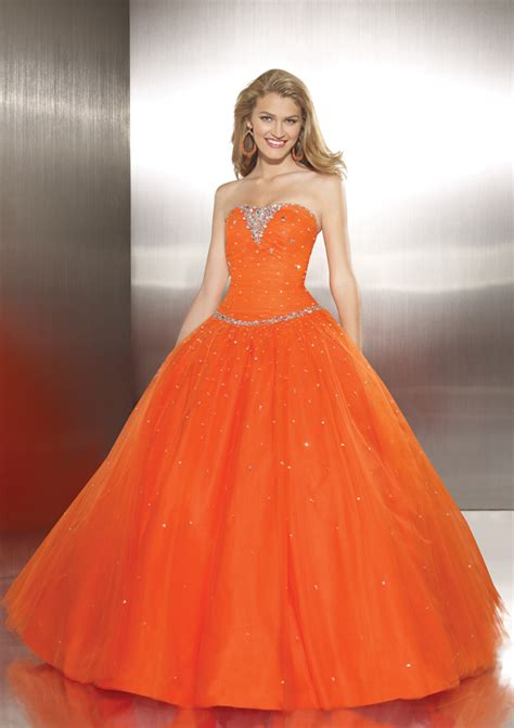 bridal style and wedding ideas sweet orange wedding dress - Brautkleider Orange