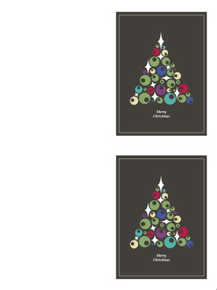 tree photo card templates cards tree of ornaments 2 per page office