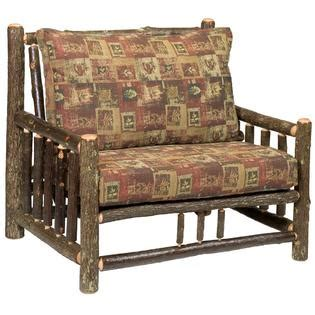 fielding chair and a half fireside lodge furniture hickory log chair a half w