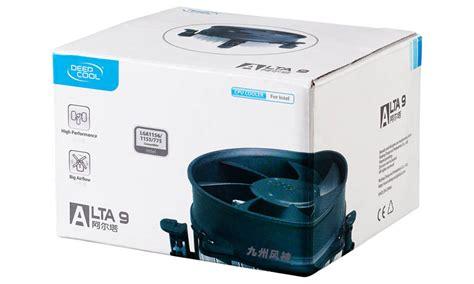 Cpu Cooler Cool Alta 9 deepcool alta 9 cpu cooler for intel 1155 1156 775 with 92mm fan