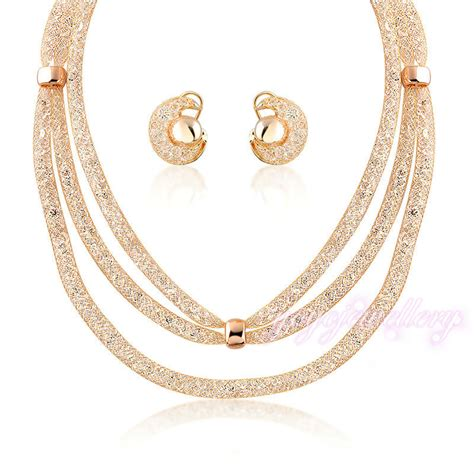 alibaba jewelry alibaba jewelry set wire mesh design 18k gold plated