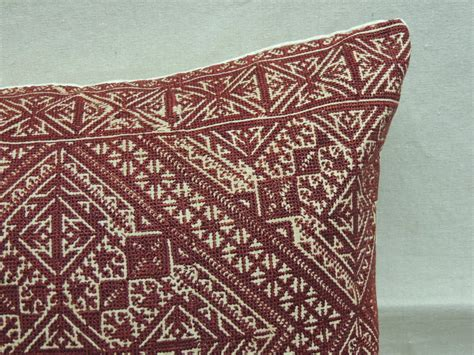 tribal pattern chair pair of red embroidery tribal pattern fez pillows for sale