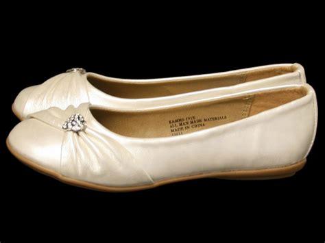 ivory flat shoes ivory childrens flat shoes w rhinestone