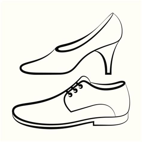 dress shoes coloring page womens and mens shoe vector art thinkstock