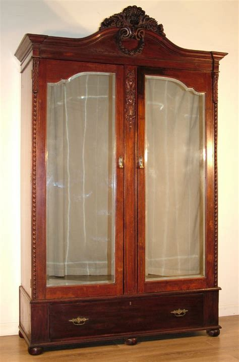 mirror armoire wardrobe large armoire wardrobe large antique victorian carved