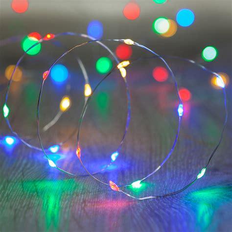 20 Multi Coloured Led Micro Battery Fairy Lights Multi Coloured Lights