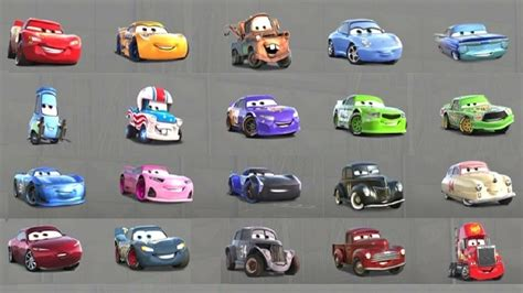 cars characters yellow cars 3 all characters unlocked gameplay with all cars