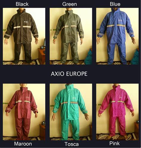 Jas Hujan Axio Assio Europe Ukuran L Dan Lainnya jual berat asli hanya 1300gram pcs jas hujan axio europe