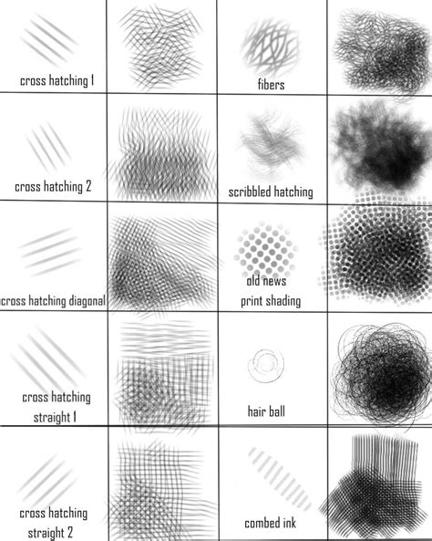 sketchbook pro brushes for photoshop sketchbook pro cross hatching brush set by