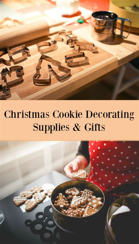 christmas cookie decorating supplies and baking gifts