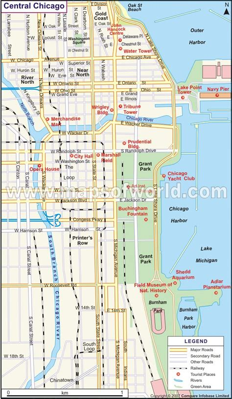 map chicago maps update 7001148 tourist map of downtown chicago 15 toprated tourist attractions in