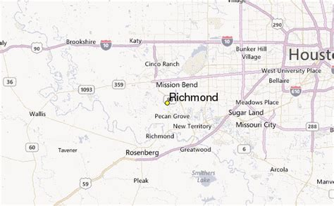 richmond texas map richmond tx images