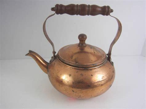 Decorative Tea Kettles by Antique Vintage Copper Tea Kettle Pot Decorative 2 Cup