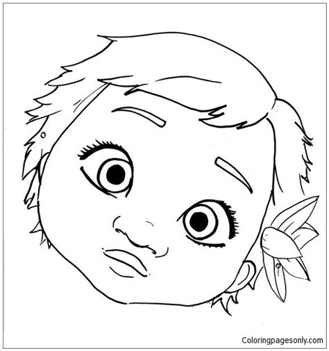 Baby Moana Coloring Pages