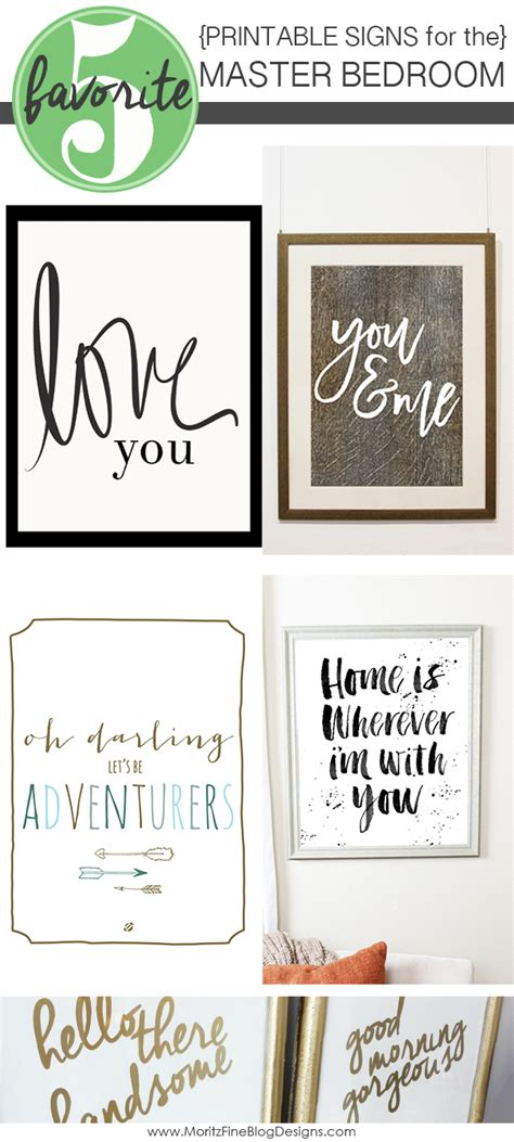 Free Bedroom Posters Signs For The Master Bedroom Free Printable Included