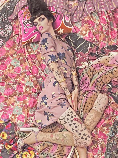 pattern fashion photography steven meisel vogue patterns 2007 minimal exposition