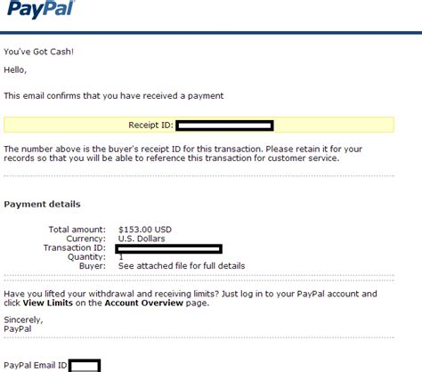 receive alerts of ads like this by email paypal notification of payment received themed emails serve malware webroot blog
