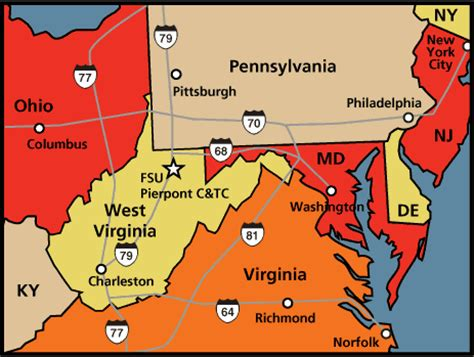 map maryland and west virginia regional map pierpont c tc