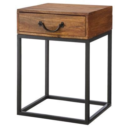 metal side tables for bedroom threshold mixed material accent table wood and metal