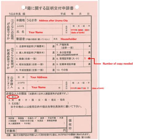 Japanese Birth Records Birth Certificate Sle Japan Choice Image Certificate