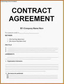 Agreement Contract Template Word doc 585610 contractor agreement template word contract