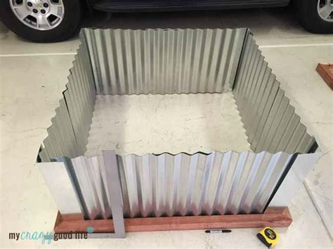 diy raised garden beds  corrugated metal metal