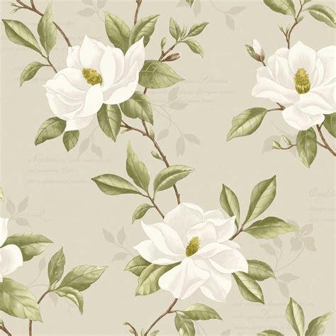 wallpaper green and cream fine decor magnolia wallpaper cream taupe green