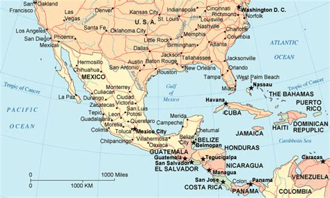 map of the united states and mexico mexico map us