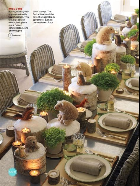 holiday table setting found in the december 2012 issue of