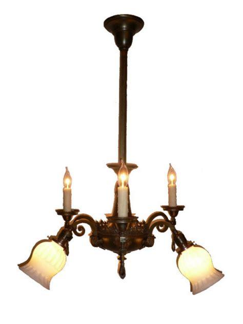 Antique Gas Chandelier Marvelous Antique Neoclassical Brass Six Light Gas Electric Chandelier Fleur De Lis Nc443 For