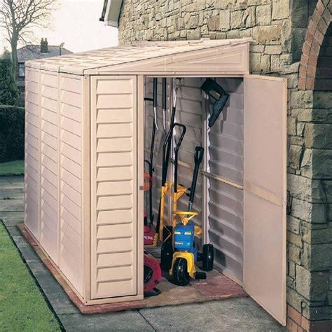 saffron plastic lean  pent shed  garden street