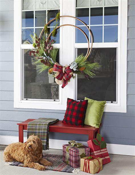 giant christmas wreath  hula hoops