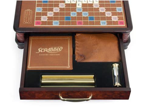 scrabble gold edition scrabble luxury edition puzzlewarehouse
