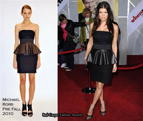 Catwalk To Carpet Fergie In Dsquared by Runway To Quot When In Rome Quot La Premiere Fergie In Michael