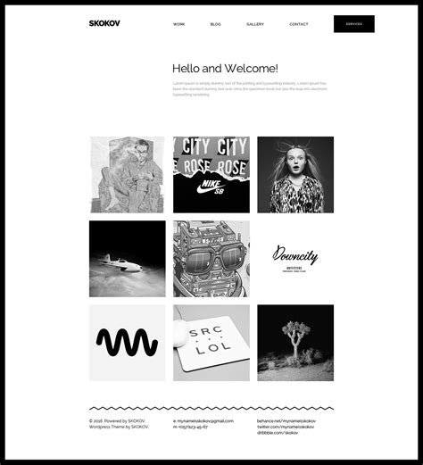 free personal portfolio template free design resources