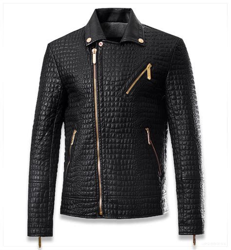 M 8 Styles Fashion Denim Jacket Slim Fit 3xl crocodile style leather brand motorcycle jacket