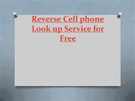 Cell Phone Lookup Free Service Cell Phone Look Up Service For Free