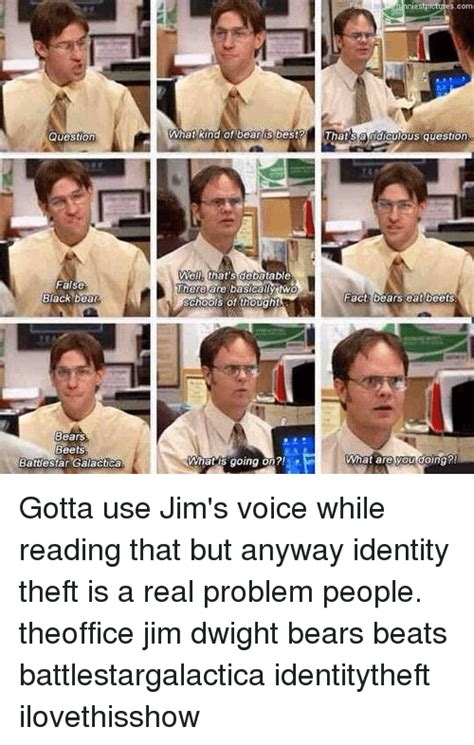Jim Whiting Identity Theft 25 best memes about fact bears eat beets fact bears eat beets memes
