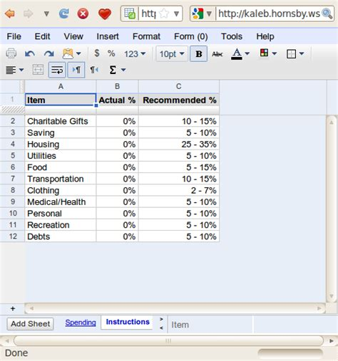 percentage budget template monthy budget percentages images frompo 1