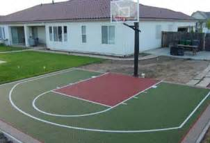 Basketball Half Court Dimensions Backyard by Half Court Basketball Dimensions Concrete Hoops Backyard