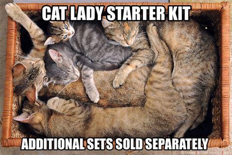 Cat Lady Memes - crazy cat lady starter kit memes