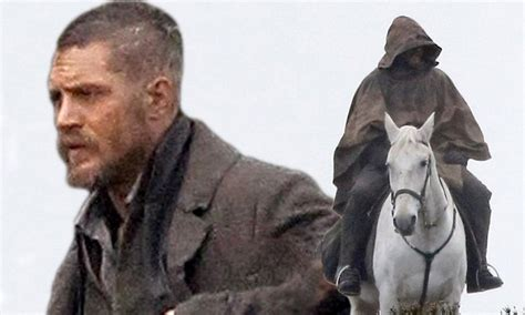 celeb taboo tom hardy films scenes for new period drama taboo on