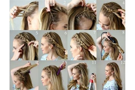how to braid short hair step by step step by step pictures of ideas to braid your own hairs for