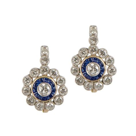 vintage and sapphire earrings estate jewelry