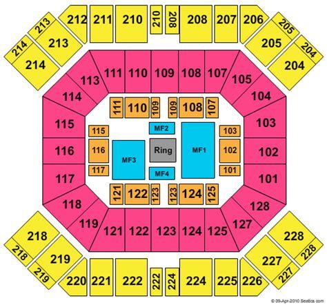 pan am center seating map pan american center seating chart