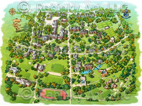 birds eye view maps illustrated maps by professional map illustrator rabinky