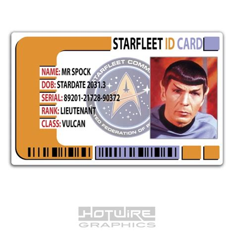 prop id card template plastic id card tv prop mr spock trek