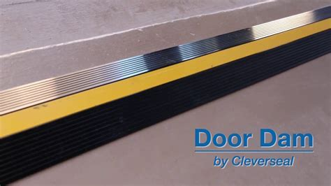 Cleverseal Door Dam Garage Door Threshold Seal   YouTube