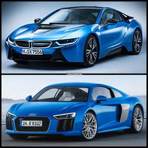 Audi Or Bmw Photo Comparison 2015 Audi R8 Vs Bmw I8